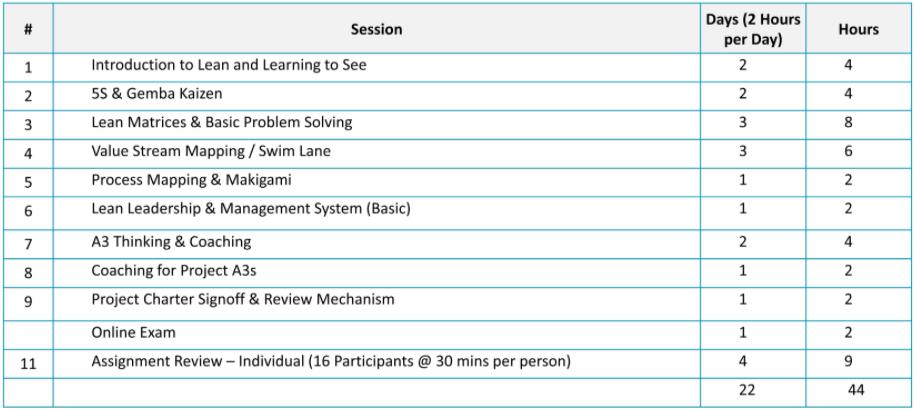 Lean Practitioner | Yellow Belt - Evaluation Criteria